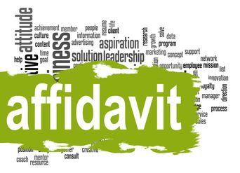 Affidavit Word cloud