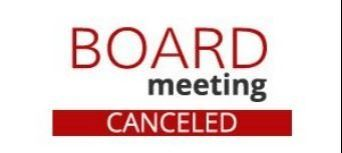 board meeting canceled image